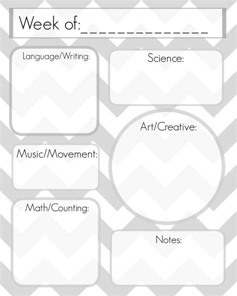 free lesson planner template free preschool lesson plan template printable free