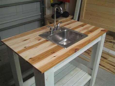 outdoor kitchen table with sink white my simple outdoor sink diy projects