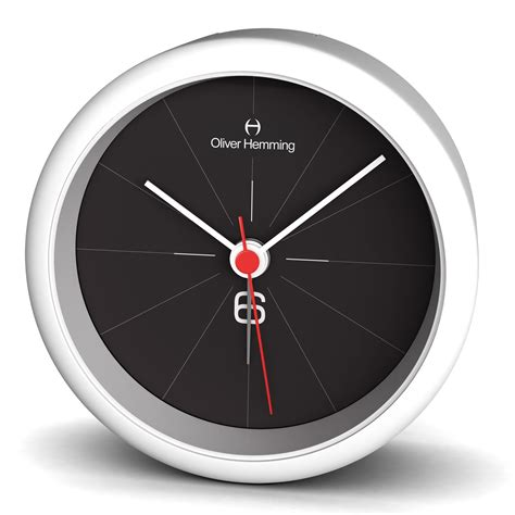 oliver hemming acrylic contemporary design alarm clock cool design 8cm ebay