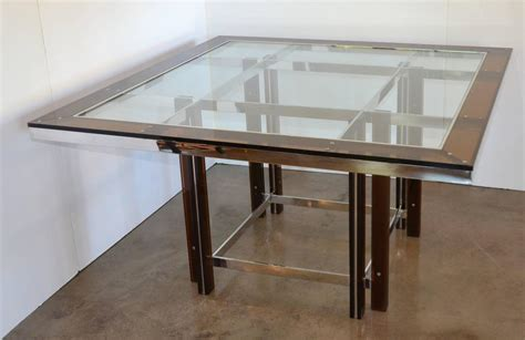 Square Dining Tables For Sale Lucite And Chrome Square Dining Table Italy 1970s For Sale At 1stdibs