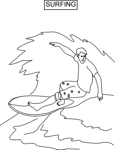 Surfing Coloring Pages surfer coloring pages