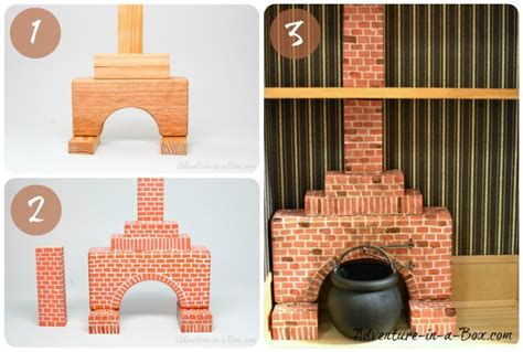 How To Make A Fireplace by How To Make A Simple Fireplace For A Doll House