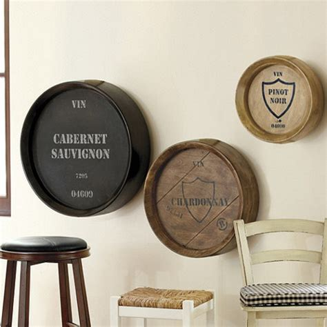 Wine Barrel Home Decor Wine Barrel Plaques Set Of 3 Traditional Home Decor By Ballard Designs
