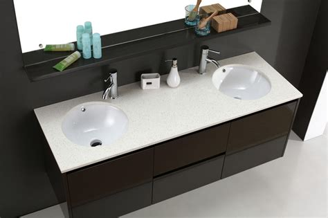 double sink basin for bathrooms luxor wall hung double basin bathroom vanities modern