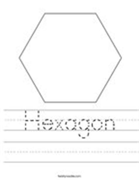 hexagon pattern worksheet shape worksheets twisty noodle