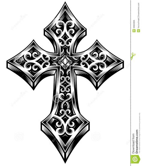 ornate celtic cross vector stock vector image of motif