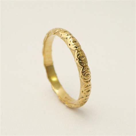 pattern gold wedding ring 14 karat gold simple wedding ring for women gold ring