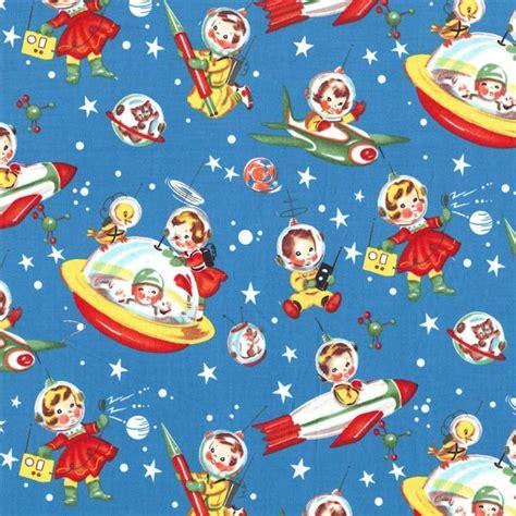 Bedroom Prints cx1253 retro rocket rascals children kids playful space