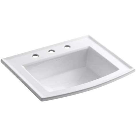 sink in bathroom kohler archer drop in vitreous china bathroom sink in