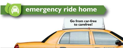 emergency ride home program commuter services of