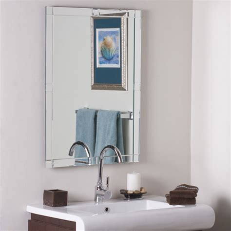 contemporary large frameless wall mirror dcg stores