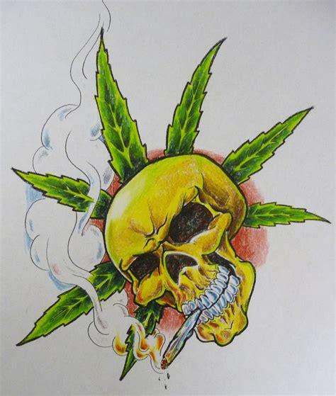 tattoo flash leaves pot leaf skull tattoo flash jpg 822 215 971 marijuana