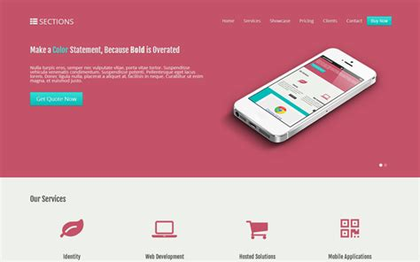 section bootstrap 12 premium bootstrap one page templates with a beautiful
