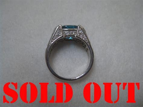 Cincin Ring Perak Silver 925 Lapis Emas Putih Asli Original 31 blue topaz 4 95 ct pada cincin perak lapis emas