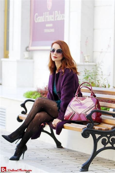 redhead illusion green  purple