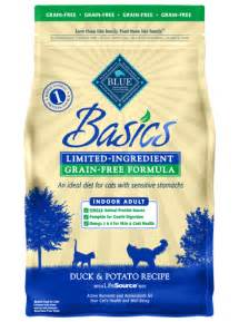 blue basics 174 dry cat food grain free duck amp potato recipe