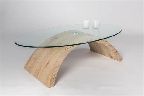 Table Basse Verre Bois by Table Basse Bois Verre Table Basse Ovale Somum