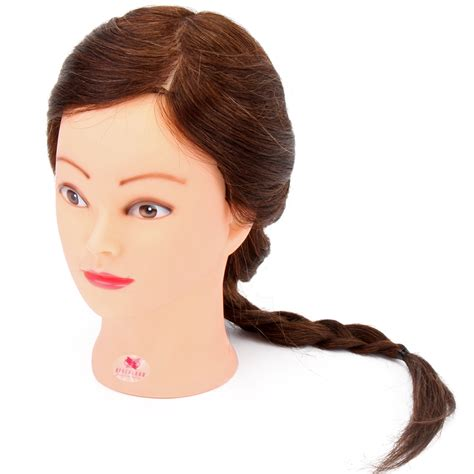 Hair Mannequin Heads Ebay by 100 Real Hair 55cm Cosmetology Mannequin
