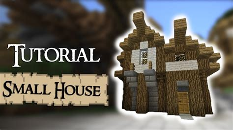 how to make a small house minecraft tutorial how to build a small medieval house
