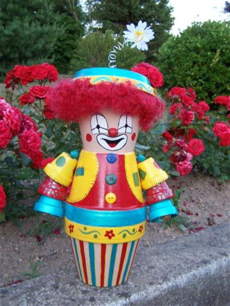 pot de fleur exterieur 1250 le clown culbuto au mille et une couleurs cr 233 ation