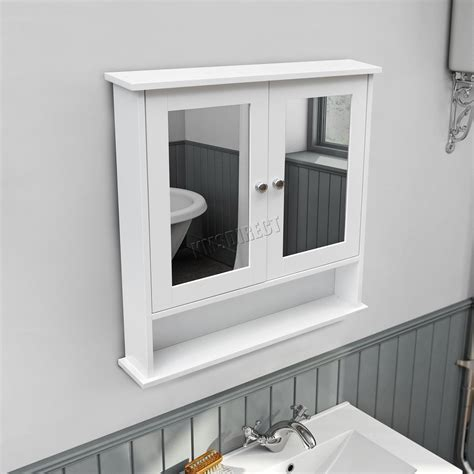 bathroom mirror unit foxhunter wall mount mirror bathroom cabinet unit storage