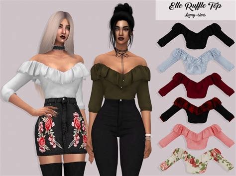 sims 4 custom content top sims 4 downloads elle ruffle top at lumy sims 187 sims 4 updates