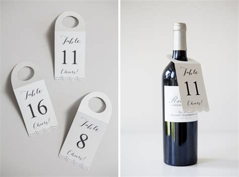 how to make free wine bottle table number hang tags