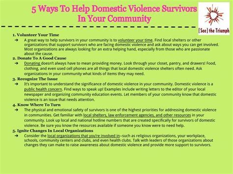 Support Letter For Domestic Violence Victims Collection Resources For Supporting Survivors See The Triumph