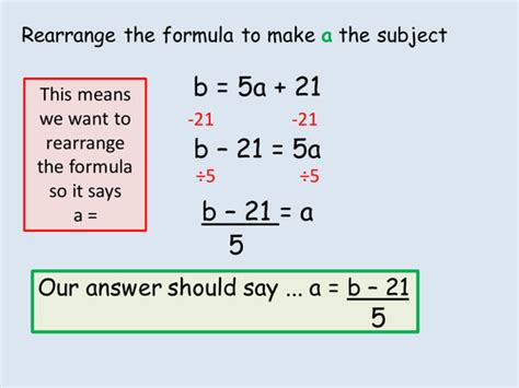 Rearranging Equations Worksheet Answers by Rearranging Formula Ks3 Powerpoint Lesson By Alex1607