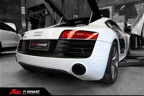 Audi R8 Auspuff by Audi R8 V8 V10 Plus With Fi Exhaust Mean Sound