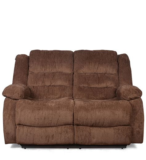 sofa with two recliners quinn two seater sofa with two recliners in chocolate