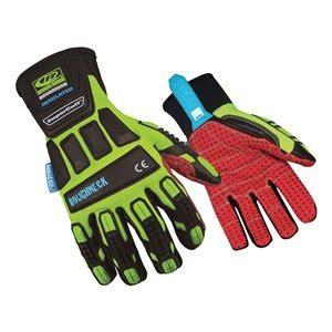 Safety Gloves Roughneck glove impact resistant l hi vis pr