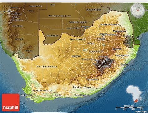 south africa physical map physical 3d map of south africa darken