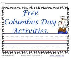 christopher columbus writing paper this columbus day freebie includes an open ended writing