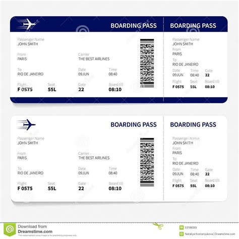 fake boarding pass template business template