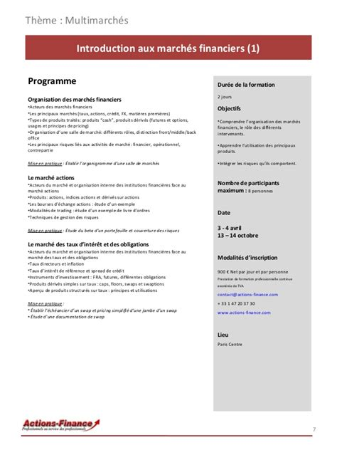 Credit Formation 2014 Catalogue De Formation 2014 Actions Finance