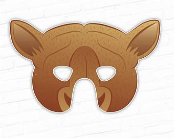 printable nativity animal masks kids nativity set etsy