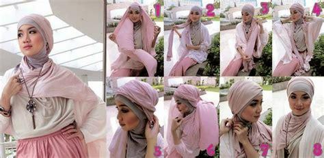 model jilbab pasmina kaos terbaru   memakainya