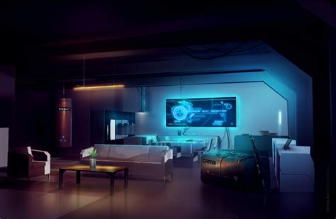 Home Bar Design Concepts by Near Future Interior Scifi Concept Art By Shaunsherman On