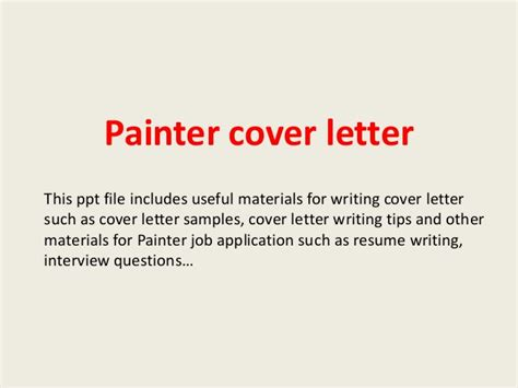 Car Painter Cover Letter by Painter Cover Letter