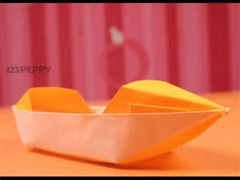 how to make a paper jet boat how to make origami jet boat origami paper youtube
