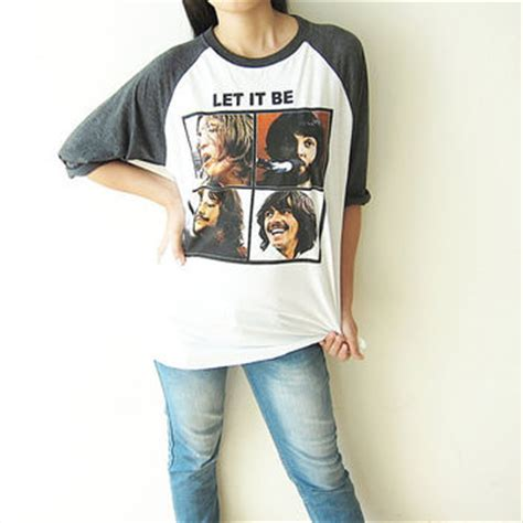 Kaos The Beatles Let It Be Raglan by The Beatles Shirts Let It Be Uk Classic From Therockershop On