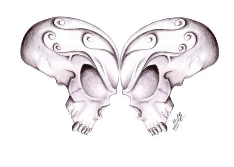 butterfly skulls by gsaw on deviantart