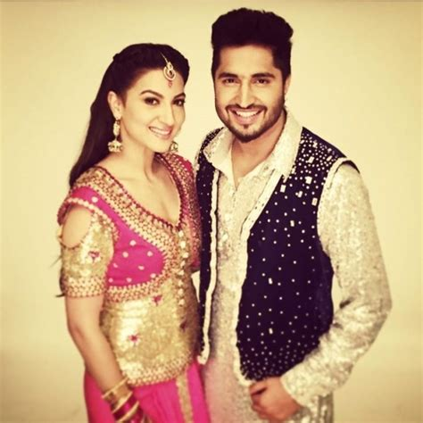 prabh gill with his wife jassi gill with gauhar khan desicomments com