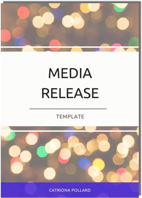 press release template australia four things to think about when writing a media release