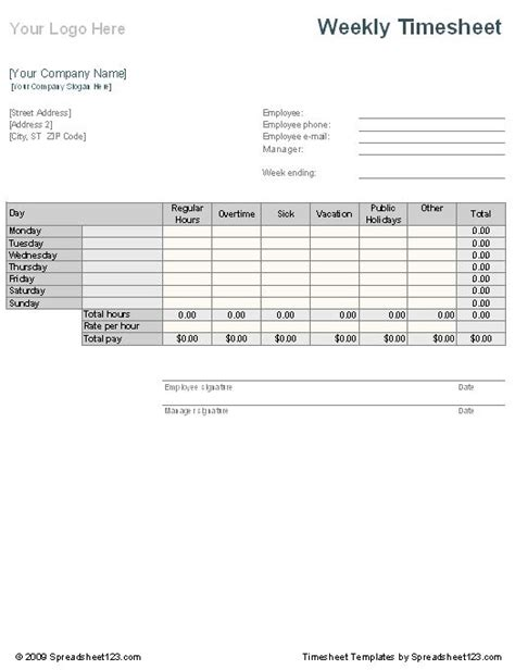timesheet invoice template or template record keeping template excel