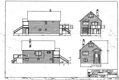 elevation plan draft drawing building plans 76465