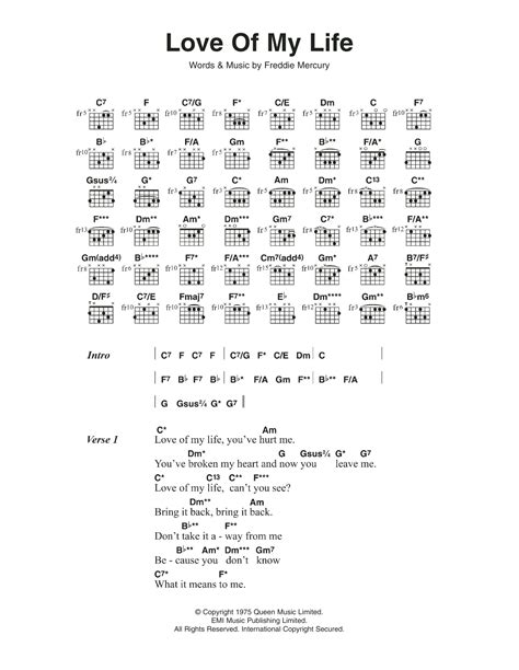 tutorial guitar love of my life love of my life by queen guitar chords lyrics guitar