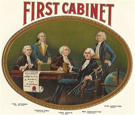 who was in washington s cabinet first cabinet embossed inner vintage cigar label 1920 s
