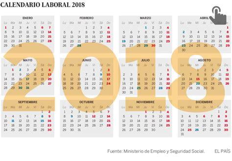 Calendario Laboral 2018 Murcia El Calendario Laboral De 2018 Permite Cuatro Puentes